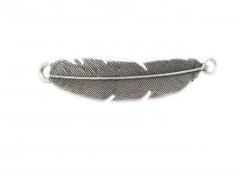 Entrepieza pluma XL.Baño de plata